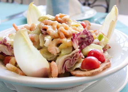 Fresh Salad Shrimps Banco de Imagens