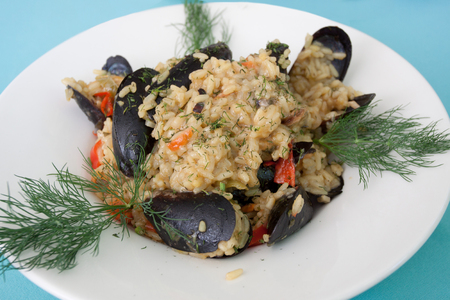 Meal Risotto Mussels