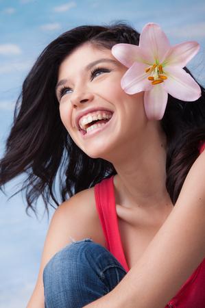 Young Laughing Girl Lilium