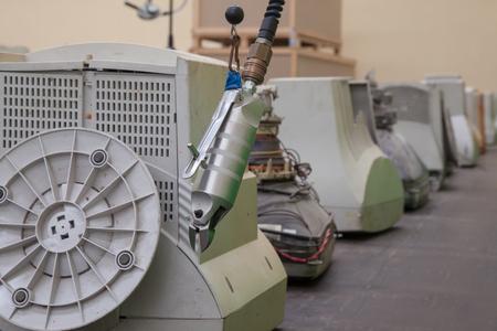 Air Cutter Recicle Monitors Old Banco de Imagens