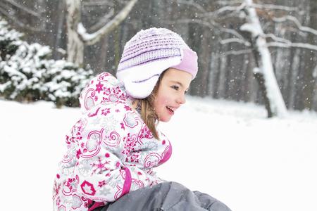 Happy Girl Snow