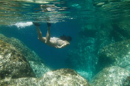 Female Underwater Sea Ocean Diving