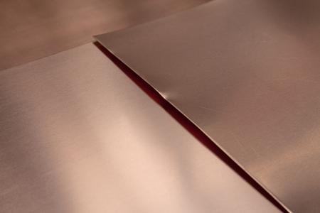 Copper Sheet Metal Close-up Banco de Imagens