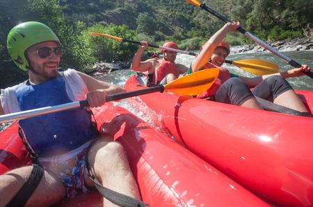 Canoe River Collision Stock Photo