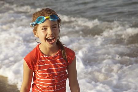 Girl Laughing Sea