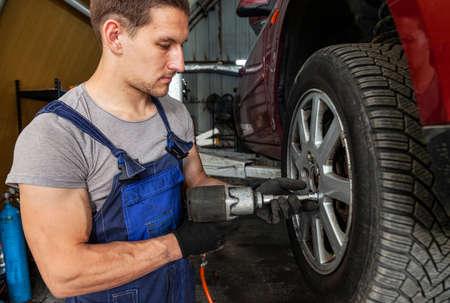 Wheel Technician Repair Auto Service Mechanic Vehicle