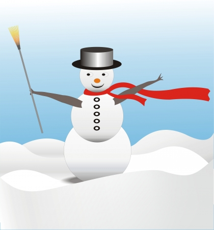 Illustration of cute snow man illustration