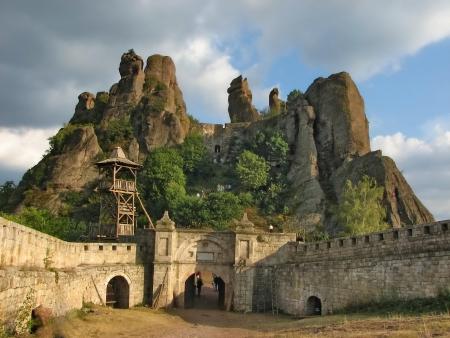 Belogradchik rocks Fortress, Bulgaria Фото со стока