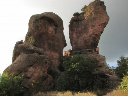 Belogradchik rocks in rocks formation, Bulgaria Stock Photo