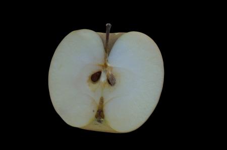Fresh apple on black background