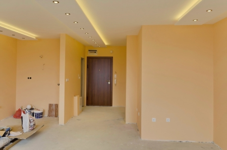 Look to part of living room with LED lighting