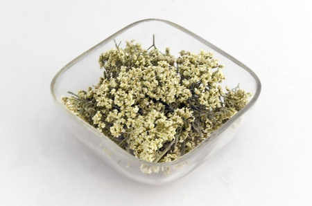 Ecological natural medicinal dry herb flower - yarrow  Stock Photo - 20762895