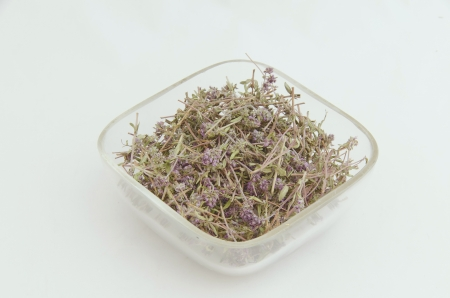 Ecological medicinal dry herb flower - thyme Stock Photo