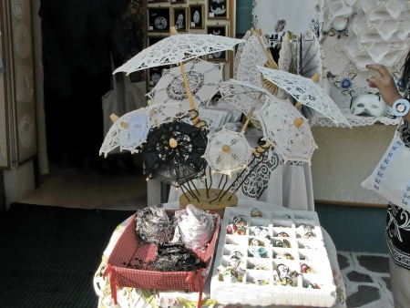 Traditional handmade umbrella by lace, Burano, Venice