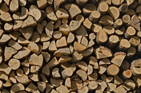 ordelijk: Beauty orderly dry firewood in monastery yard