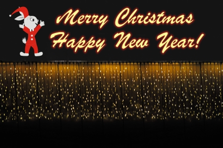festal: Christmas and New Year s background with festal image and greeting