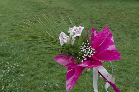 arrange: Bouquet of diverse fresh flovers arrange beauty