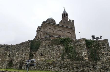 Church and fence in the Tsarevets Fortress, Veliko Tarnovo, Bulgaria