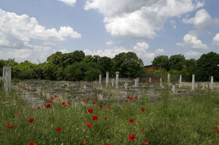 archaeological complex: Archaeological complex Abritus in present town Razgrad, Bulgaria Stock Photo