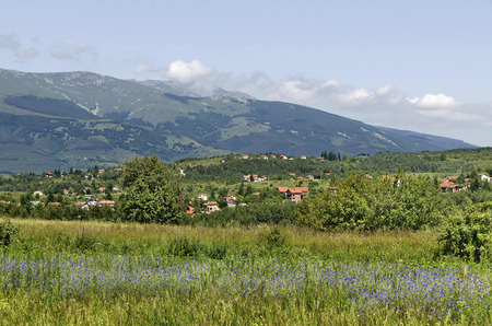 Look to Vitosha mountain from Plana, Bulgaria  Stock Photo