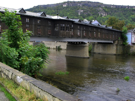 balkan peninsula: Restored antique covered bridge only of the Balkan peninsula