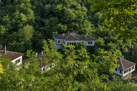 Old house crouched in forest at Melnik town, Bulgaria