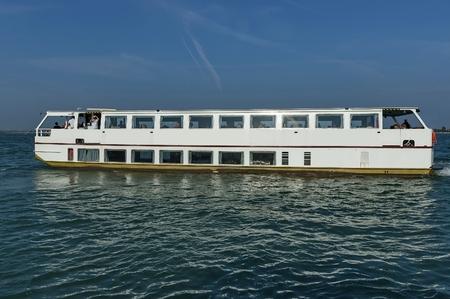 Cruise ship in the Adreatic sea near Venice, Italy, Europe Editorial