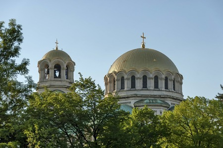 nevsky: The roof of St. Alexander Nevsky Cathedral in Sofia, Bulgaria