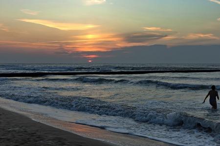 early morning: Early morning in Lido di Jesolo,  venetian Riviera, Italy, Europe