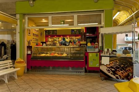 Icecream shop in Lido di Jesolo venetian Riviera Italy