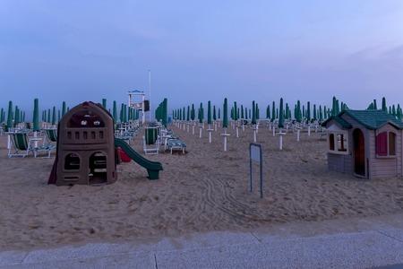 lido: Fragment of Lido di Jesolo beach Adriatic sea venetian Riviera Italy