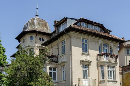 parget: Fragment of old building in the Sofia town, Bulgaria, Europe