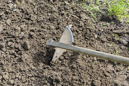 dibble: Hoe, the traditional tool for the agriculture and gardening, Bulgaria