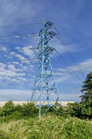 energia electrica: L�nea de transmisi�n de energ�a el�ctrica, Sof�a, Bulgaria