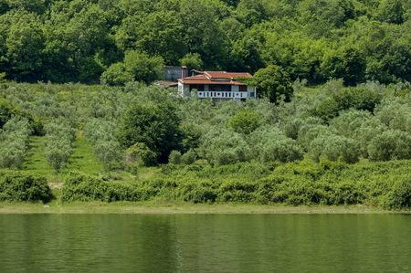 kerkini: Church and monastery in nord Greece near to Kerkini lake