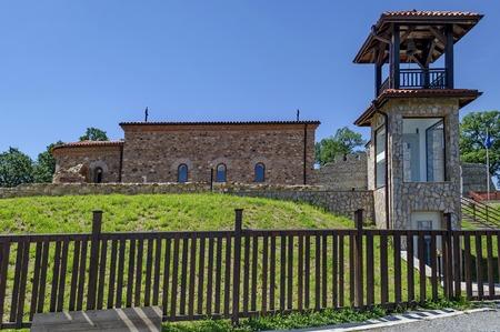 xv century: Reconstruction of the medieval church Ascension from XV century, Stari Mali grad, Bulgaria