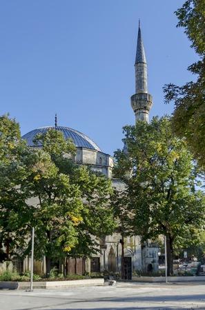 balkan peninsula: Fragment of the most beautiful mosque of the Balkan peninsula Ibrahim pasha, Razgrad, Bulgaria.