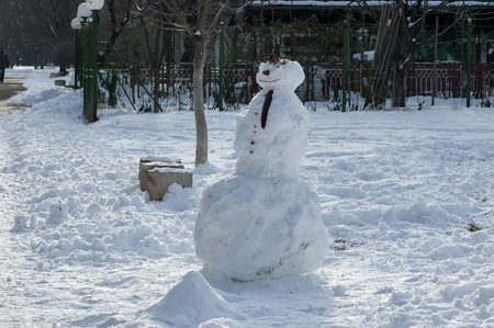 south park: Snowman in South park, Sofia, Bulgaria, Europe Stock Photo