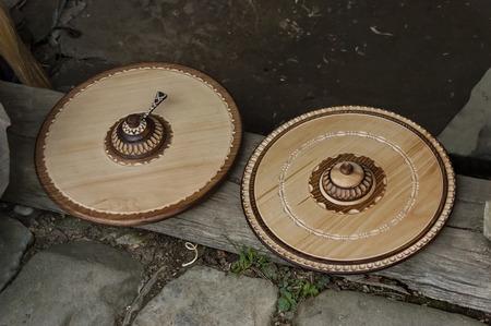 wooden handmade: Retail shop in workshop for wooden hand-made souvenir, Etar, Gabrovo, Bulgaria