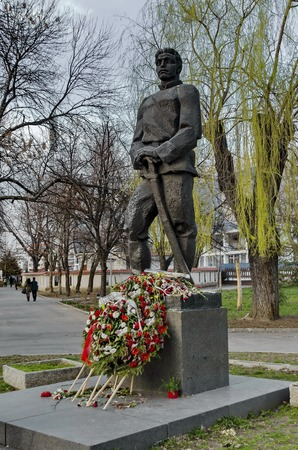 liberate: Monument to Bulgarian national hero Vasil Levski in park Gerena, Sofia, Bulgaria