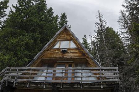 Rest-house or hut in the mountain Vitosha, Bulgaria