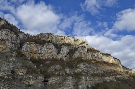 One high top of Lakatnik rocks with receiver, Iskar river defile, Sofia province, Bulgaria