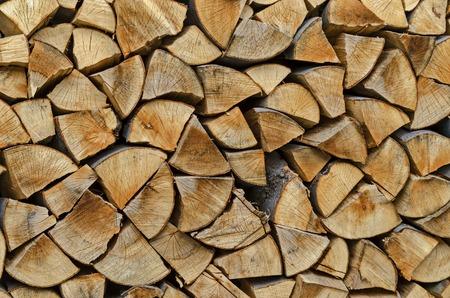 Pile of chopped firewood prepared for winter, Lakatnik, Bulgaria Stock Photo