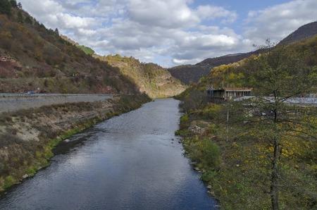 View toward part of river Iskar and Iskar defile, Lakatnik, Bulgaria