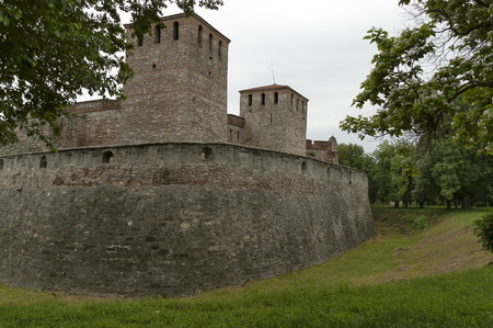 Outside view of the medieval fortress Baba Vida  at Danube River in Vidin town, Bulgaria