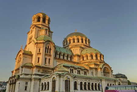 Fragment of beauty St. Alexander Nevsky Cathedral in Sofia, Bulgaria