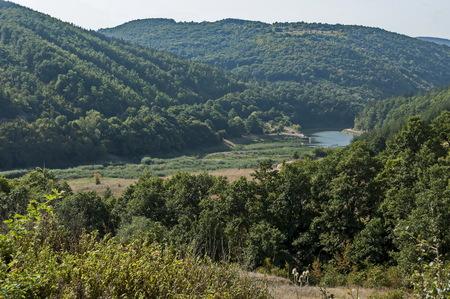 Place for rest and fishing of river Lesnovska in the Sredna gora mountain near Sofia, Bulgaria