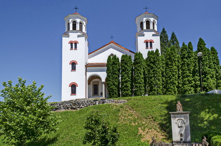 Medieval orthodox church in the   Klisura Monastery St. Cyril and St. Methodius, founded in the 12th century, mountain Balkan, near Varshets town, Bulgaria, Europe