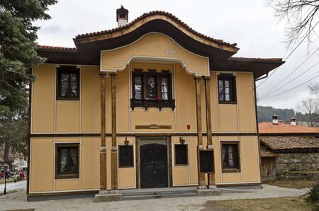 The old historical public building of ancient school and library in Koprivshtitsa town, Bulgaria, Europe