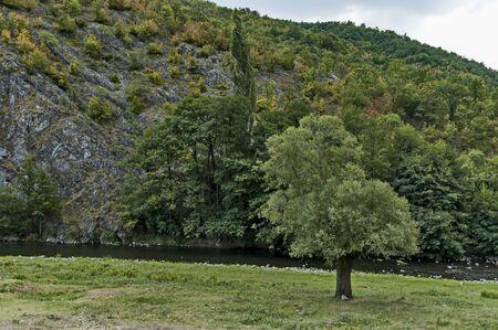 Part of the beautiful valley of Topolnitsa River through Sredna Gora Mountain, Bulgaria